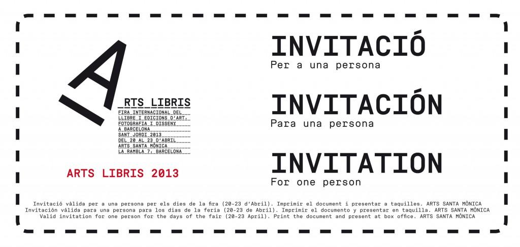 Invitació Arts Libris 2013