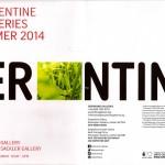 Serpentine Galleries Summer 2014 Programm